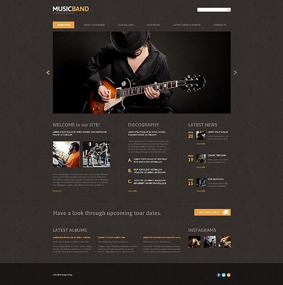 Best Music Band Responsive Joomla Template