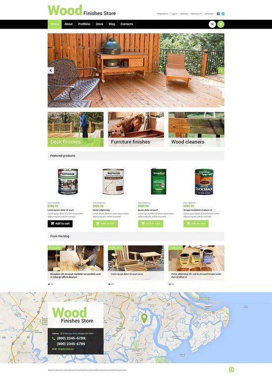 Best Wood Finishes Store WooCommerce Theme