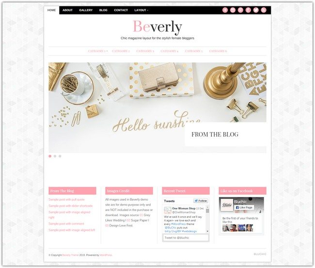 Beverly WordPress Theme