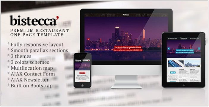 Bistecca - Responsive Parallax Restaurant Php Theme