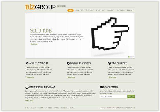BizGroup - Free Template
