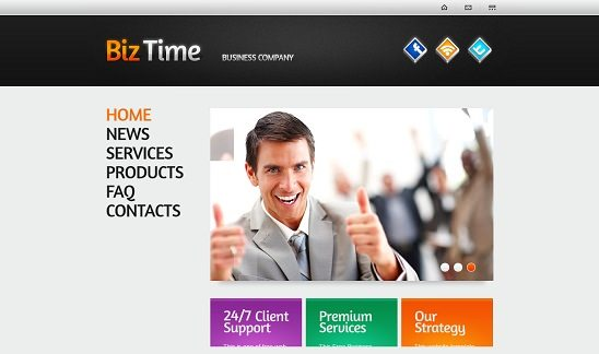 BizTime Free Consulting Website Template