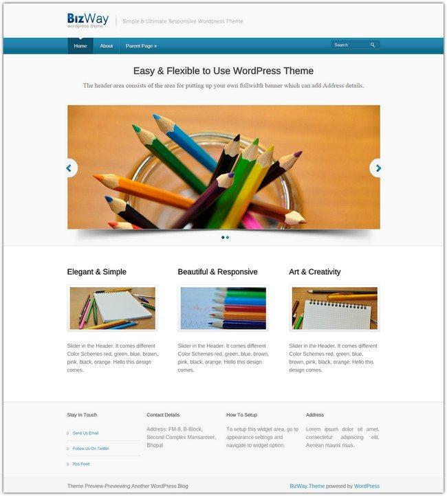 BizWay WordPress Theme