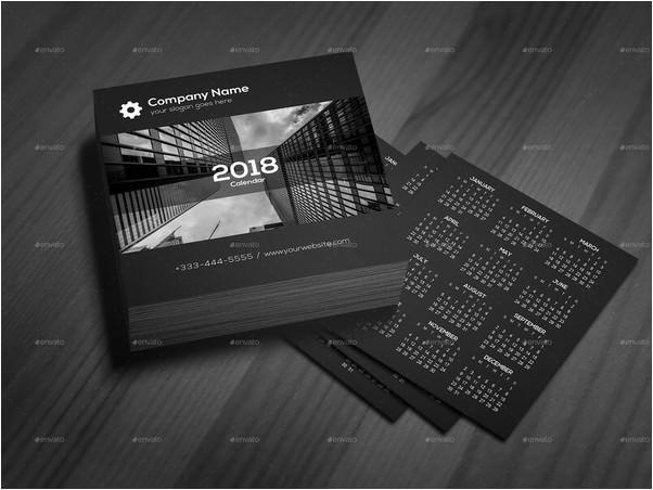 Black Theme Calendar 2018