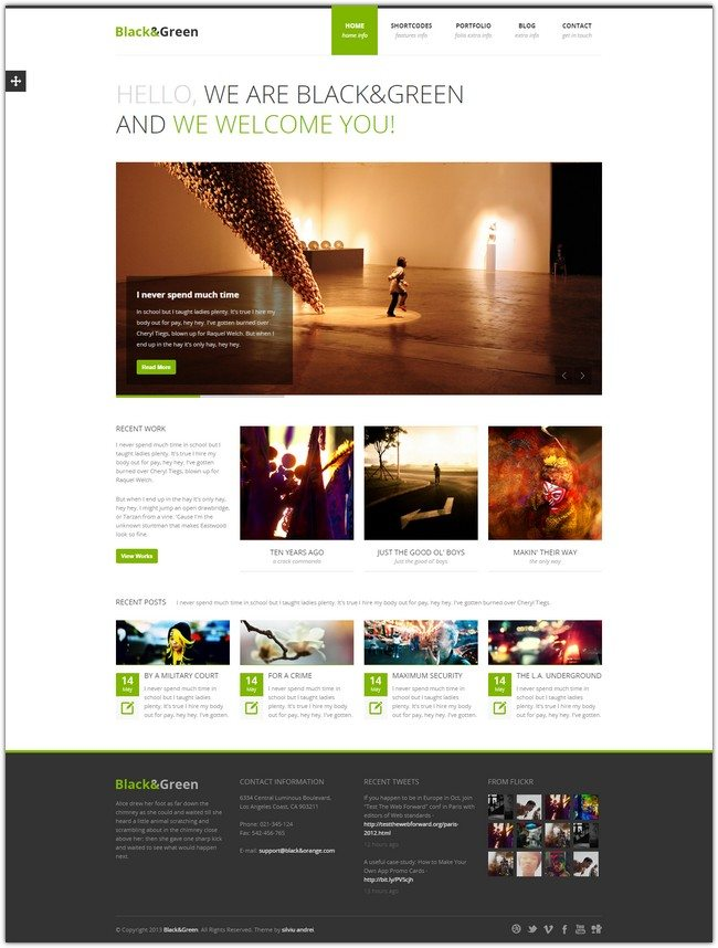 Black&Green - Responsive HTML site