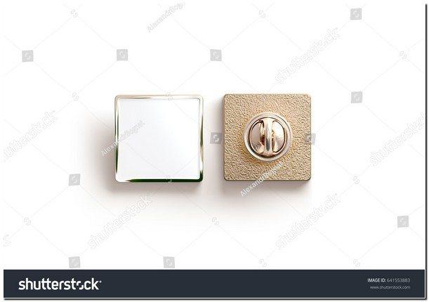 Blank Gold Enamel Pin Mock Up