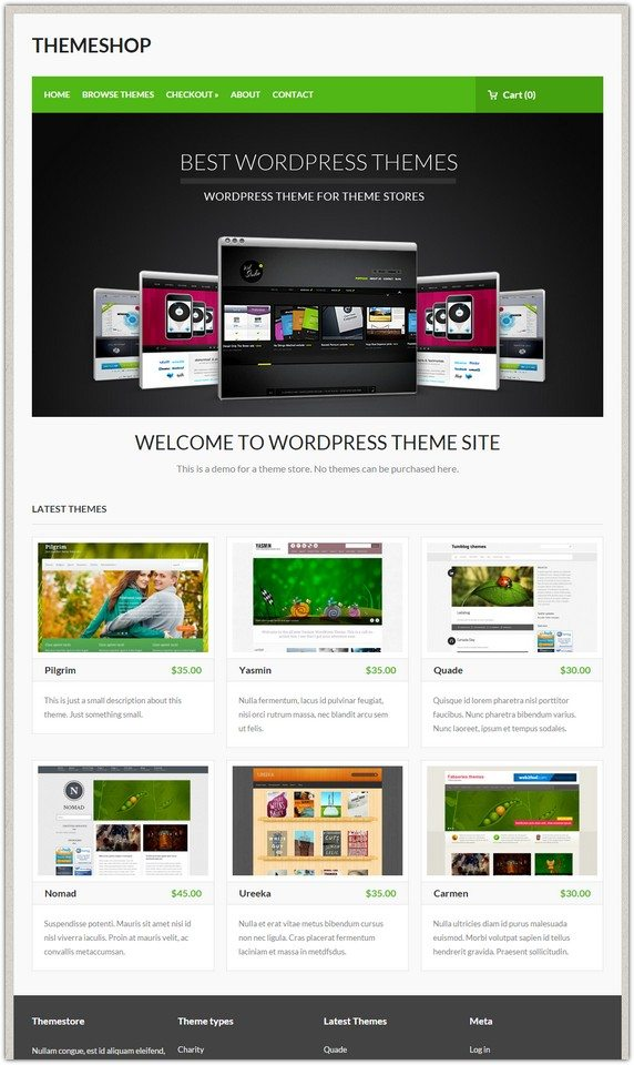 Blog Entry WordPress Theme