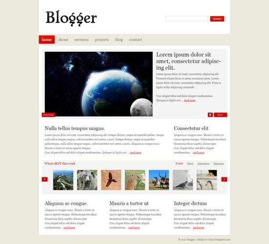 Blogger - Free Template