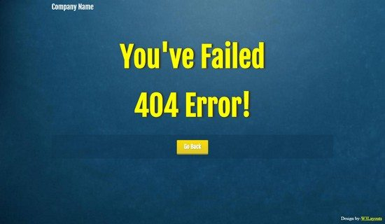 Blue Pattern 404 Page Not Found Mobile Web Template