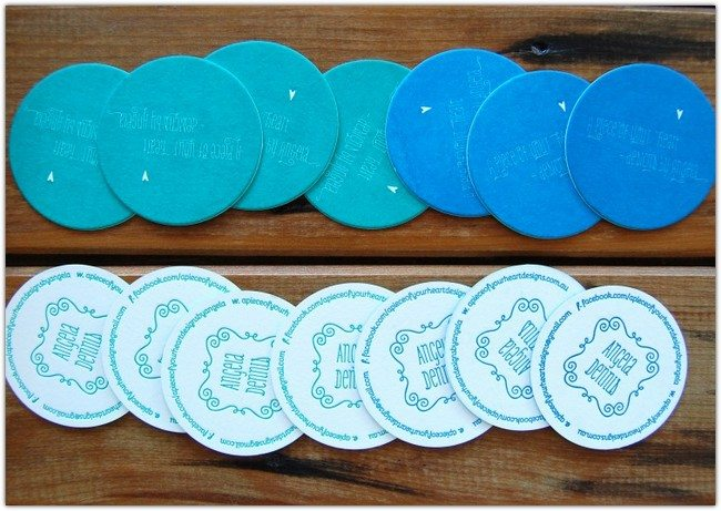 Blue Turquoise Circular Cards