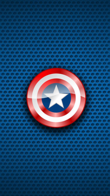Blue background Captain America shield Iphone