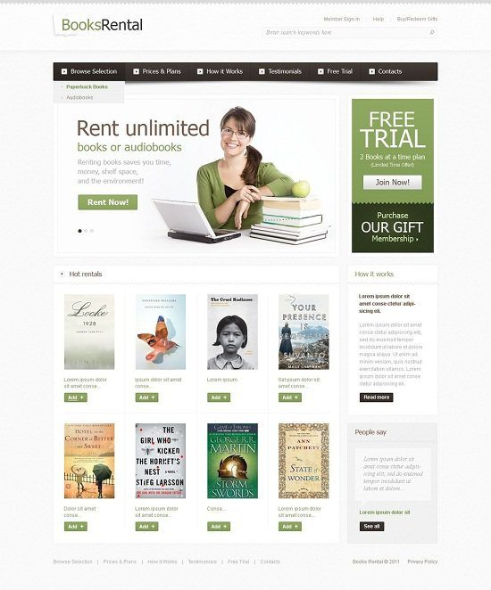 Book-Store-Website-Template