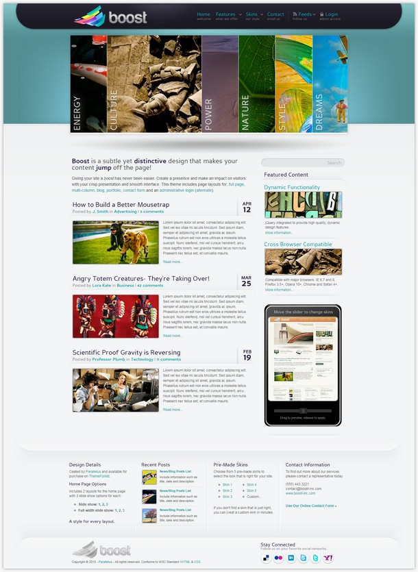 Boost - HTML Corporate and Magazine Site