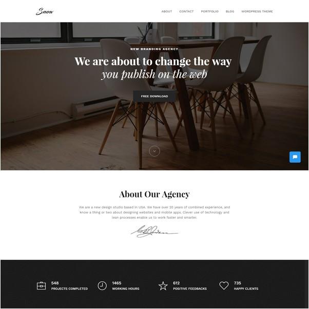 Bootstrap Portfolio Startup Website Template