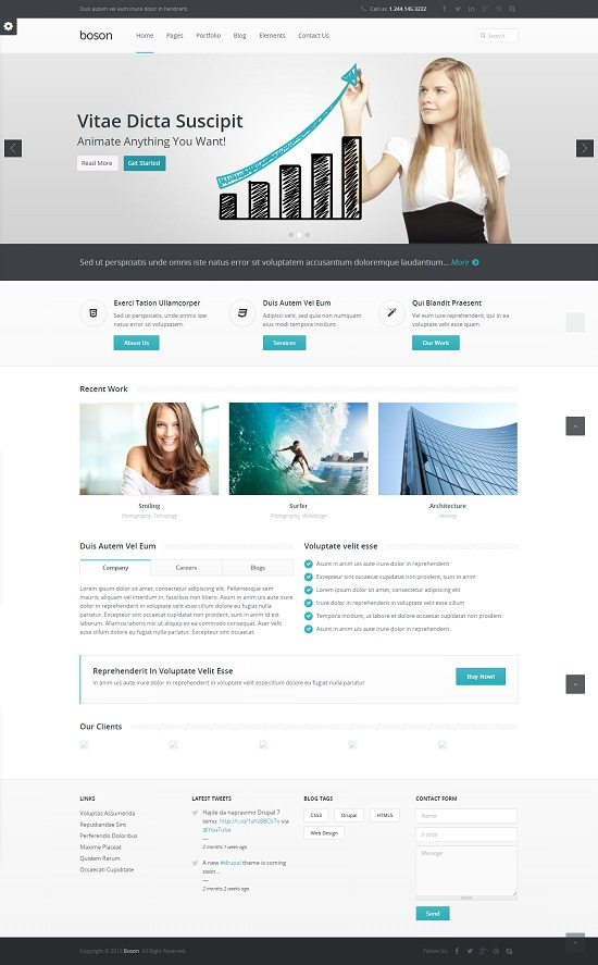 Boson - Responsive Multi-Purpose Drupal theme