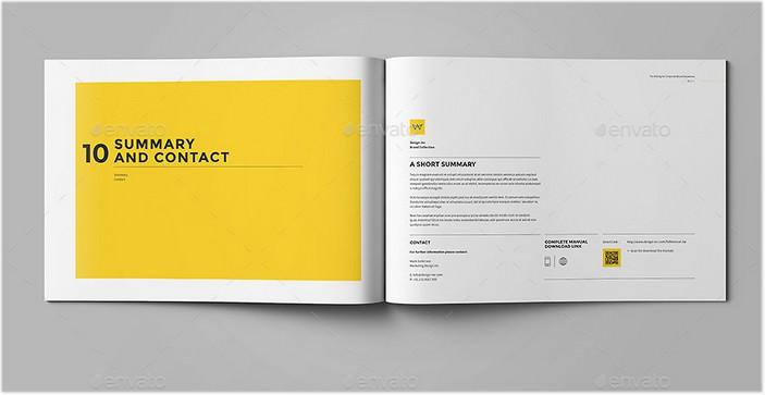 Brand Manual Print Brochure