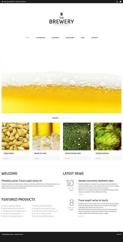 Brewery Business WordPress Theme
