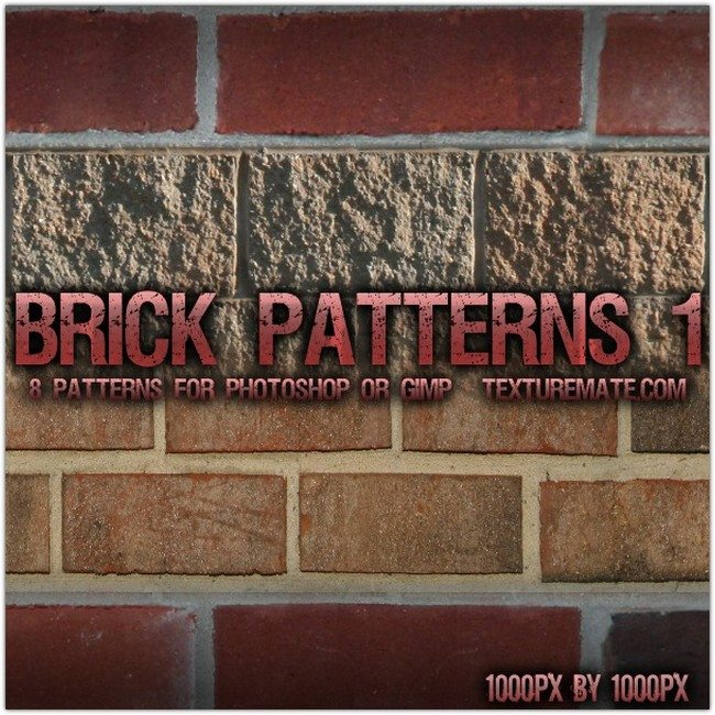 Brick 1 Pattern Set for Photoshop or Gimp