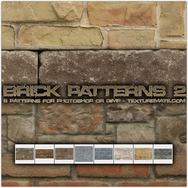 Brick 2 Pattern Set for Photoshop or Gimp