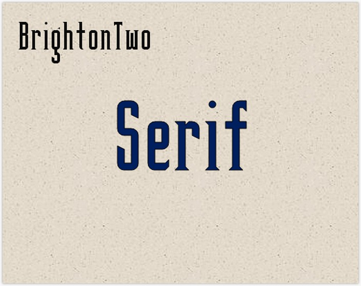 BrightonTwo Sans NBP font - by total FontGeek DTF, Ltd.
