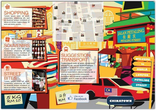 Brochure Design for Petaling Street Kuala Lumpur
