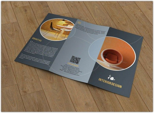 Brochure for Interior Designer-V60