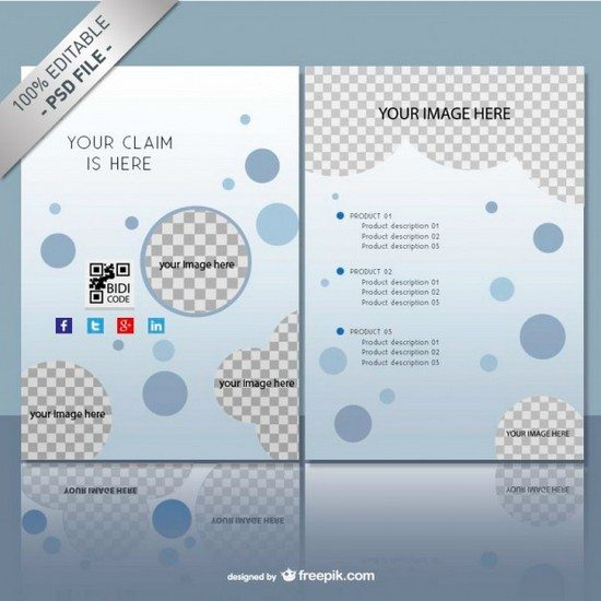Brochure mock up template free PSD Free Psd