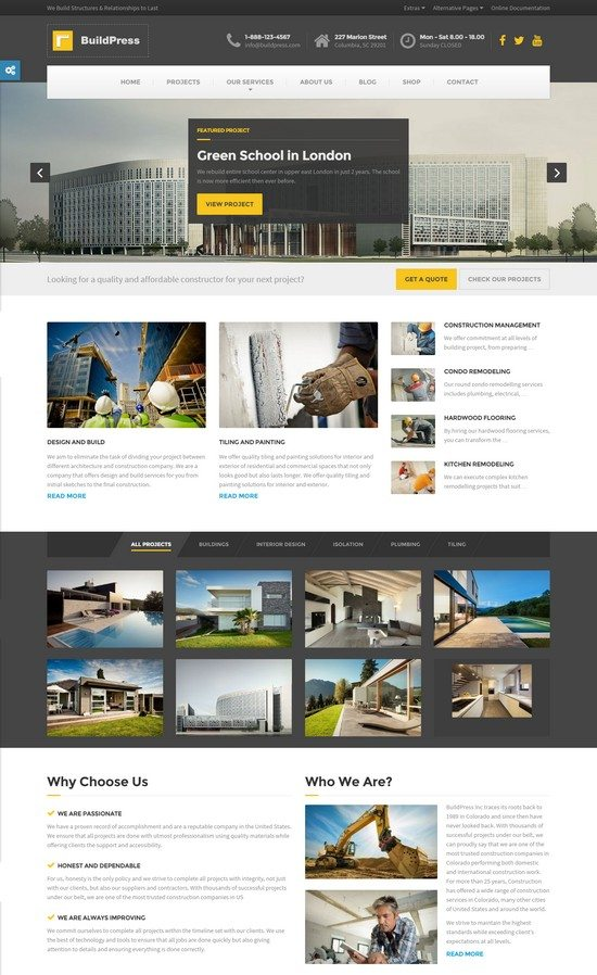BuildPress - Construction Business HTML Template