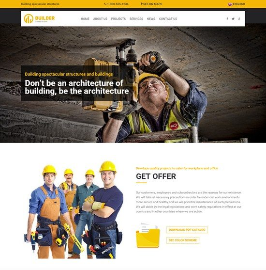 Builder Construction HTML Template