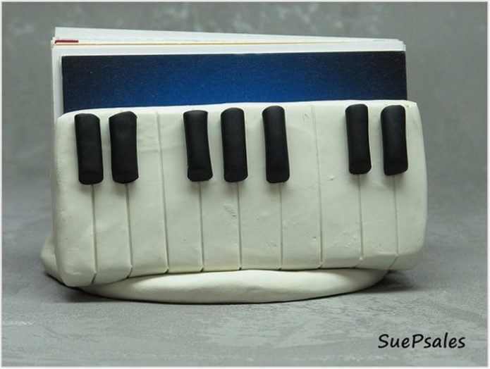 Business Card Holder for Piano Teacher