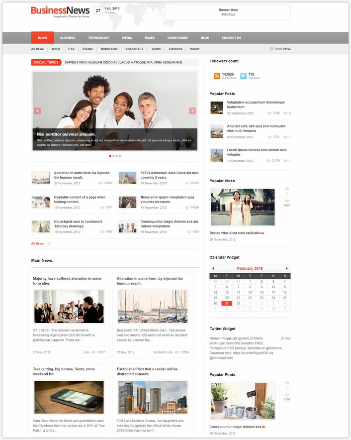 Business News - PHP Theme