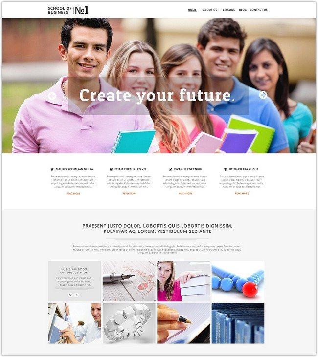Business School Responsive Website Template