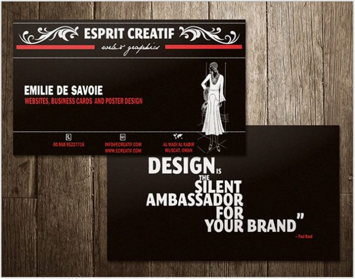 Business card - vintage style