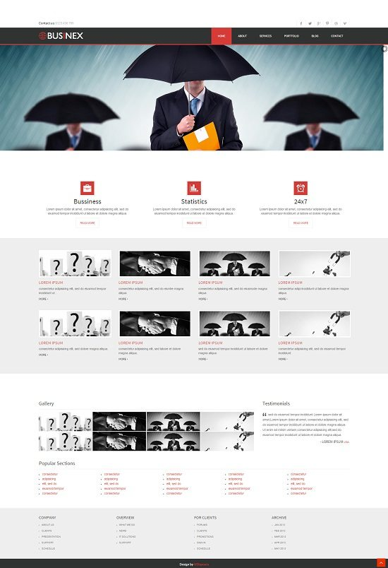 Businex a Corporate Mobile website Template