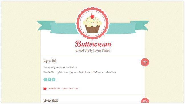 Buttercream WordPress Theme