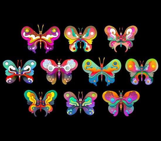 Butterflies for Hibu Doodle Art Template