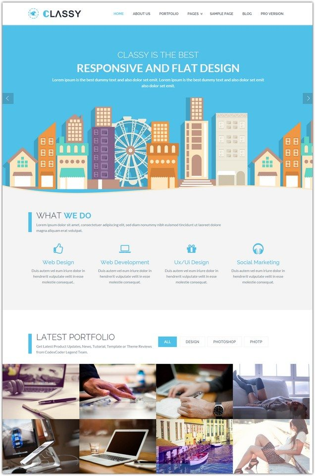 CLASSYLITE – FREE BUSINESS WORDPRESS THEME
