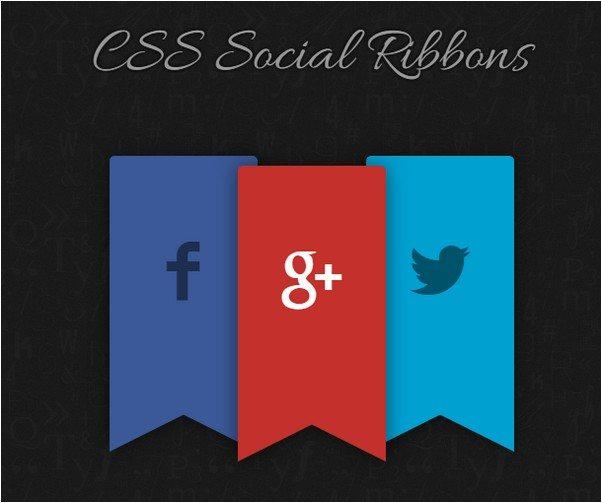 CSS Social Ribbon Flags