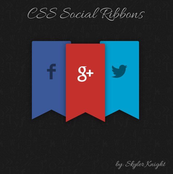 CSS Social Ribbons