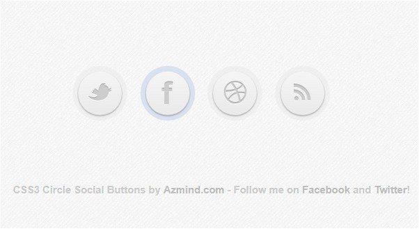 CSS3 Circle Social Buttons