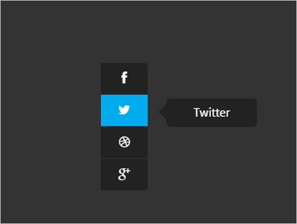 CSS3 (SCSS) Social Sidebar