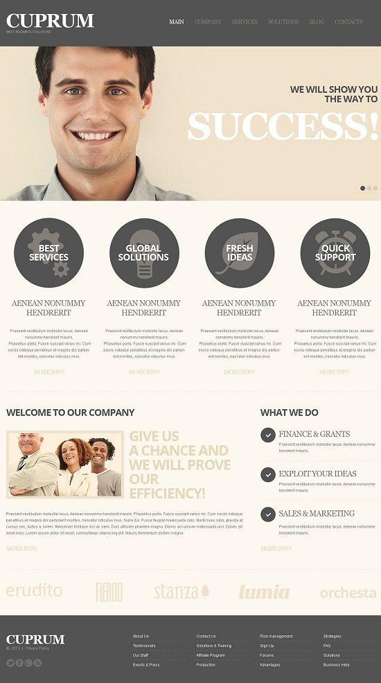 CUPRUM Business Solutions Online WordPress Theme