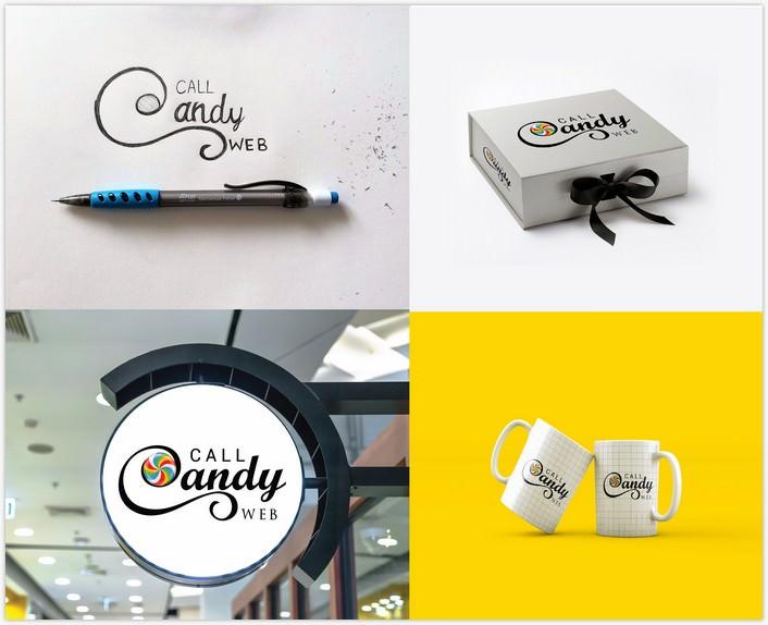 Call CandyLogo Mockup