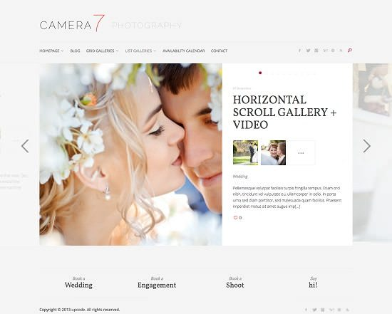 Camera 7 – Minimal Photography WordPress Theme