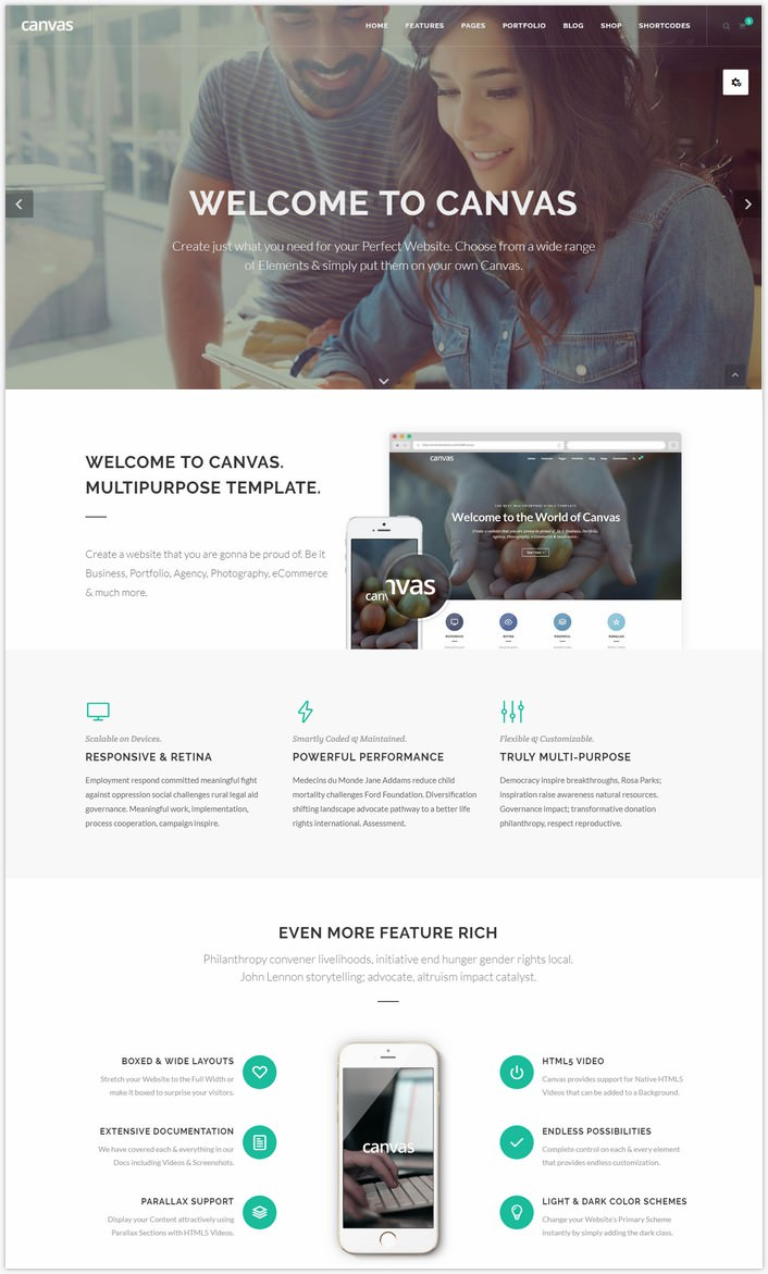 Canvas The Multi-Purpose HTML5 Template