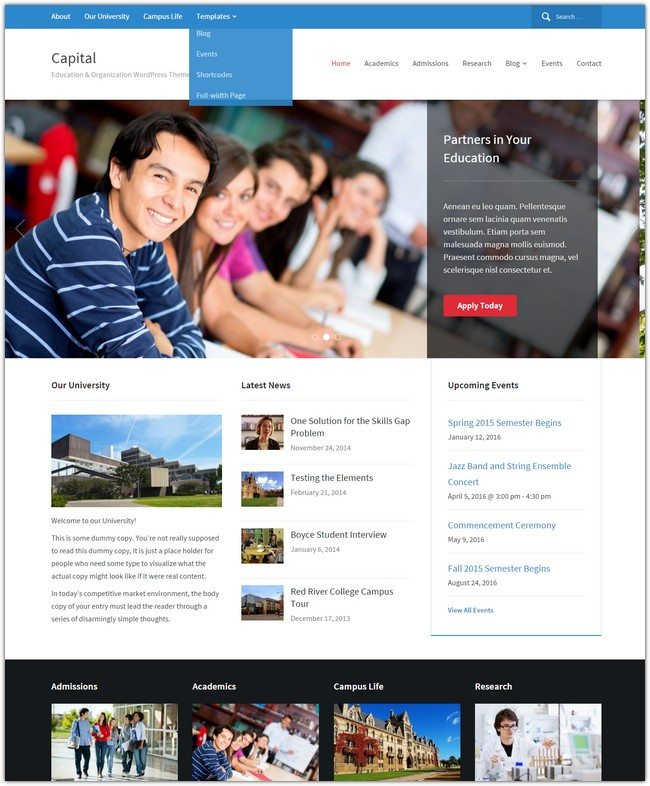 Capital WordPress Theme