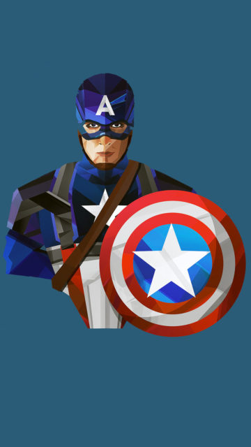 Captain America Art Iphone Wallpapers