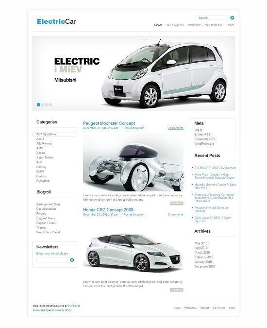 Car Club WordPress Theme