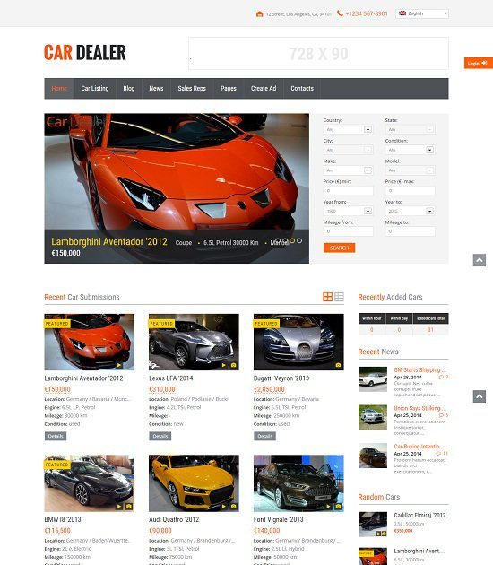 Car Dealer Auto Dealer Responsive WP Theme