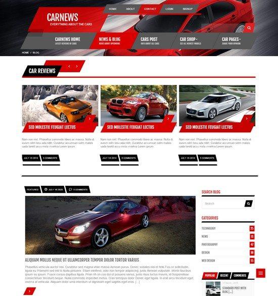 Car News - HTML for Car Website